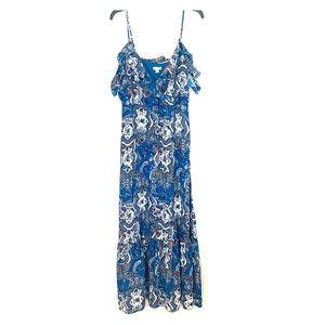 Xhilaration Cold Shoulder Maxi Dress Size L